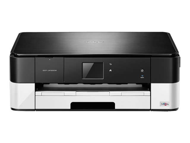 Brother DCP-J4120DW - Multifunction printer - colour - ink-jet - 215.9 x 297 mm (original) - A3/Ledger (media) - up to 12 ppm (copying) - up to 35 ppm (printing) - 150 sheets - USB 2.0, Wi-Fi(n), USB host