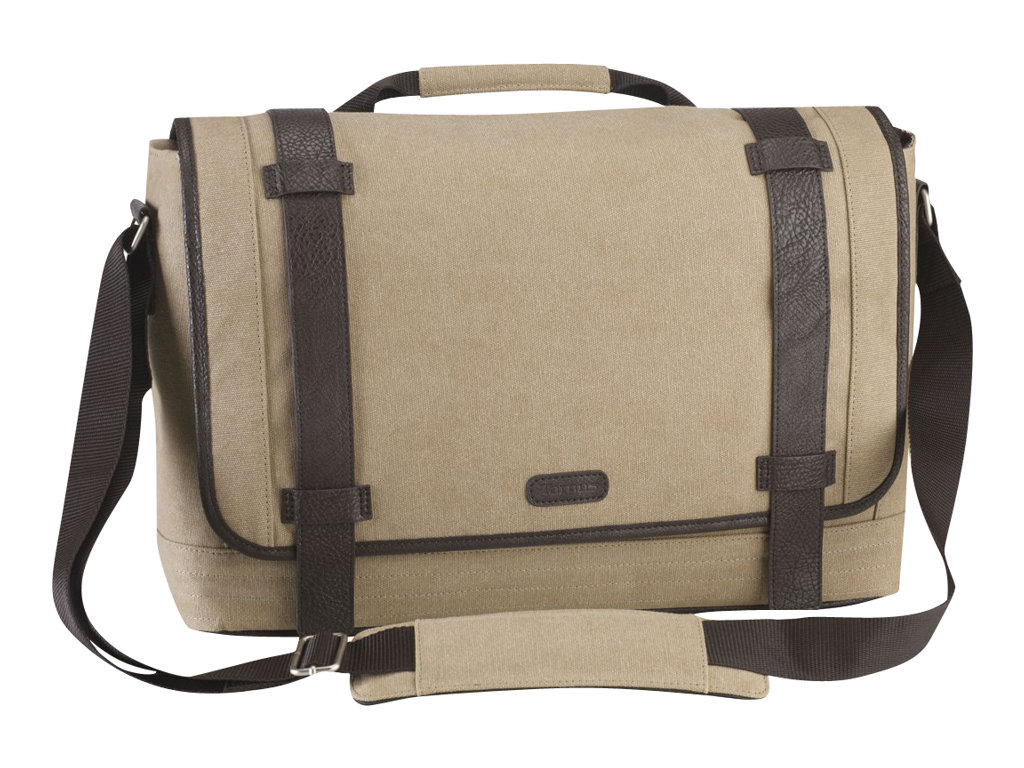Targus Canvas Laptop Messenger Bag for Men - Notebook-Tasche - 39.6 cm (15.6