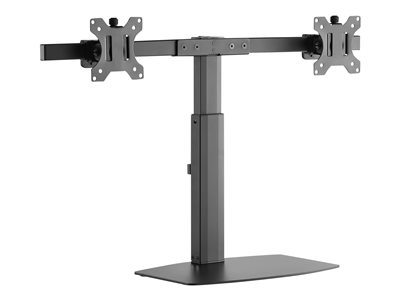 Amer 2EZH Stand for 2 monitors plastic, aluminum slate black screen size: 17INCH-27INCH -