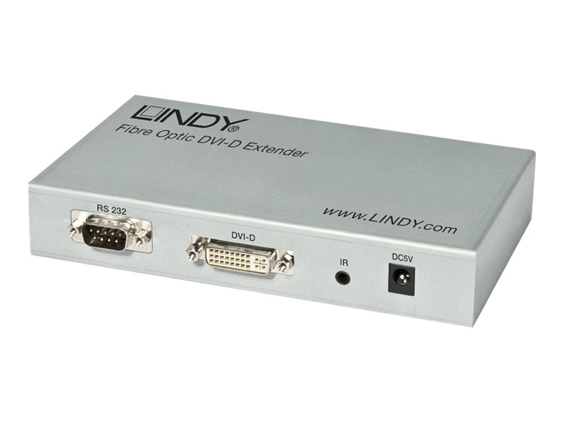 LINDY Fibre Optic DVI-D Extender (Transmitter and Receiver units) - Video Extender - bis zu 300 m