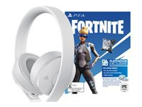 Sony Fortnite Neo Versa Gold - Fortnite Bonus Content Bundle - headphones with mic - full size - wireless - 3.5 mm jack - white - for Sony PlayStation 4, Sony PlayStation 4 Pro, Sony PlayStation 4 Slim
