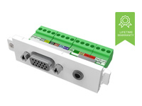 Picture of VISION TechConnect 3 VGA+3.5mm module - modular facility plate snap-in (TC3 VGAF3.5MM)
