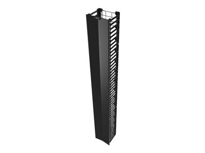Legrand Q-Series Vertical Manager, 7FEET H X 10INCH W Rack cable management panel black 45U