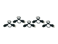 Tripp Lite 2ft Computer Power Cord Cable 5-15P to C13 10A 18AWG 2' 5-pack 5pc