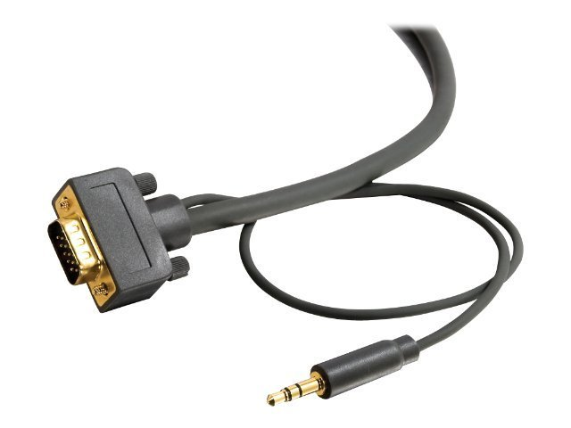 C2G Flexima 12ft Flexima VGA + 3.5mm A/V Cable M/M - In-Wall CL3-Rated - VGA Cable - VGA cable - 3.7 m