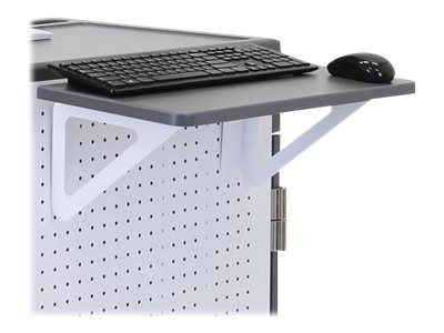 Ergotron Shelf for notebook / keyboard / mouse gray, white cart mountable