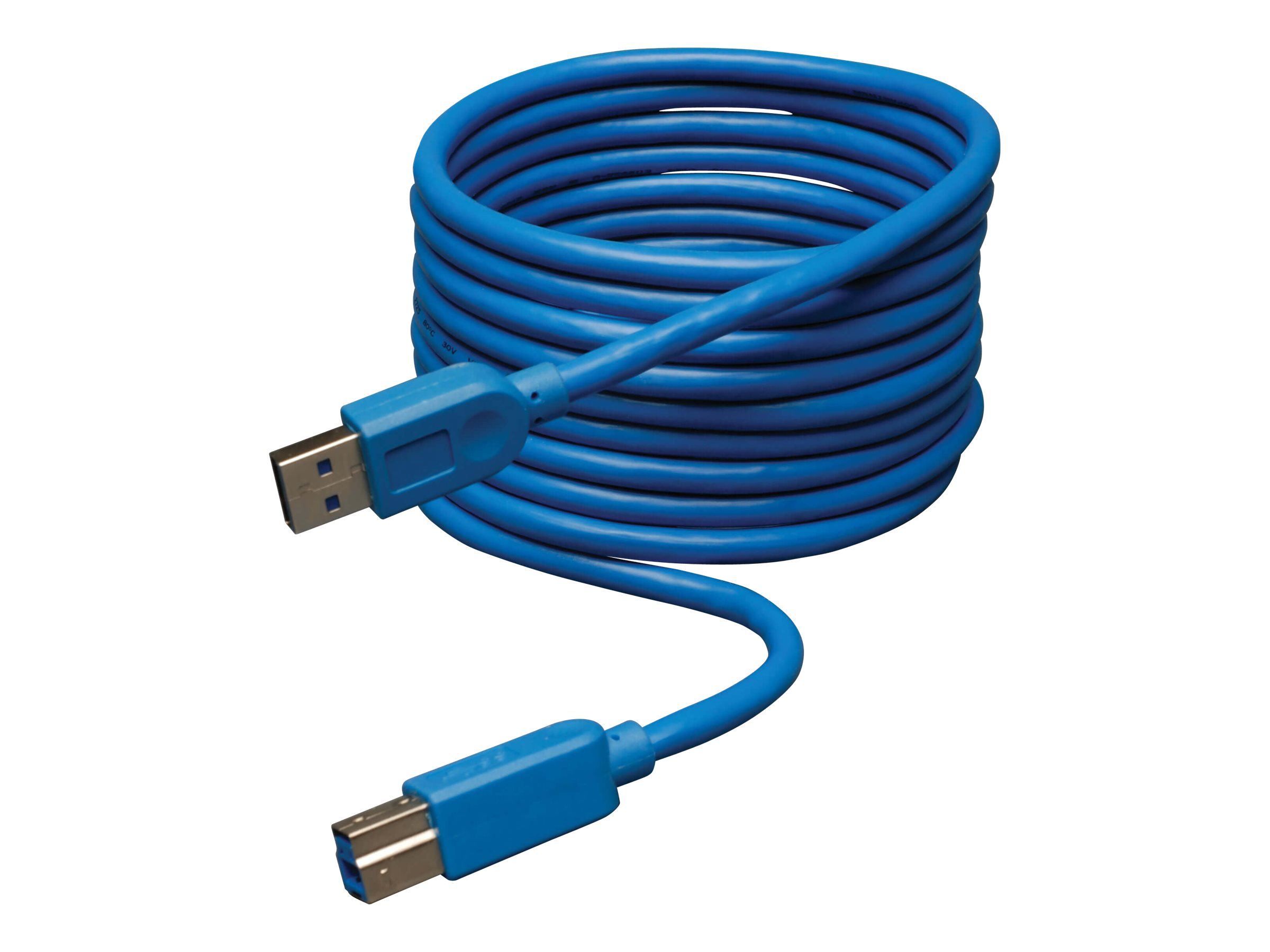Tripp Lite 10ft USB 3.0 SuperSpeed Device Cable 5 Gbps A Male to B Male 10' - USB cable - 3 m