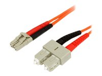 StarTech.com Cable patch a fibre optique multimode 62,5/125 LC-SC de 3 m - FIBLCSC3