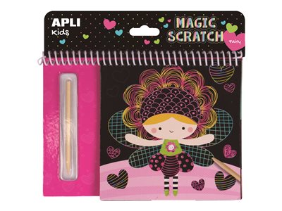 Papeterie fantaisie APLI kids Magic Scratch Fairies - carte à gratter