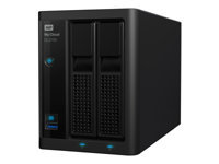WD My Cloud PR2100 WDBBCL0040JBK - NAS server - 2 bays - 4 TB - HDD 2 TB x 2 - RAID 0, 1, JBOD - Gigabit Ethernet