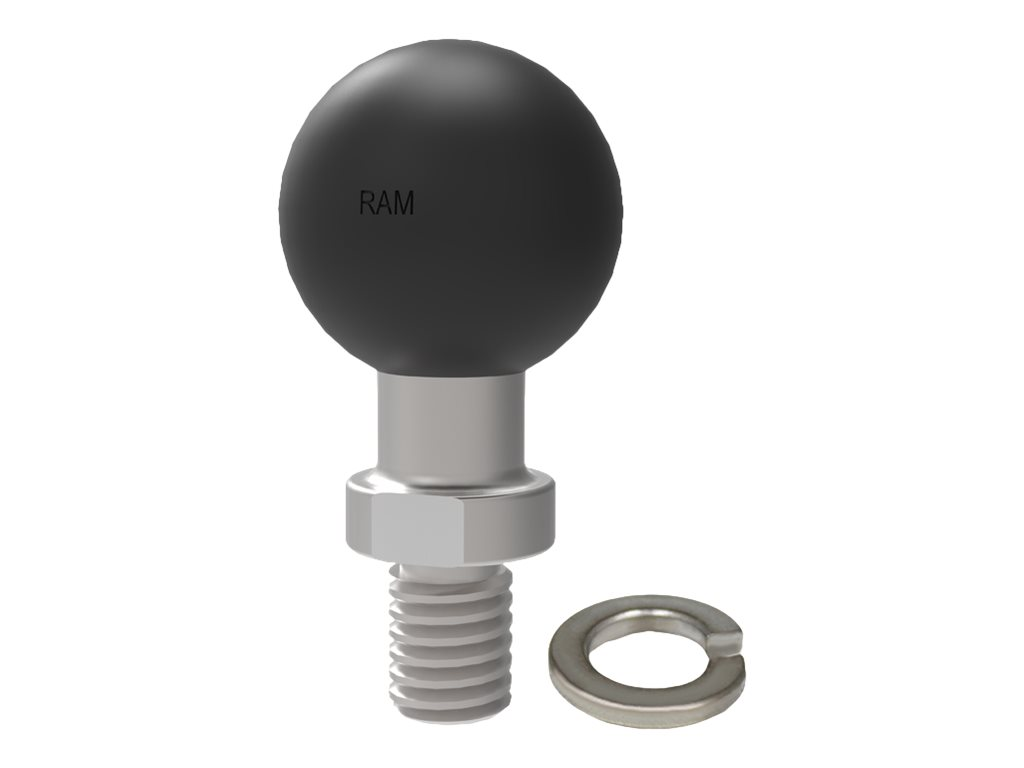 """RAM Ball Adapter with 3/8""""-16 Threaded Post - Size 1"""" Rubber Ball - ball mount"""