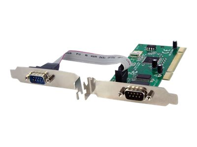 StarTech.com 2 Port PCI RS232 Serial Adapter Card w/ 16950 UART - Dual Voltage - serial adapter - PCI-X - RS-232 x 2