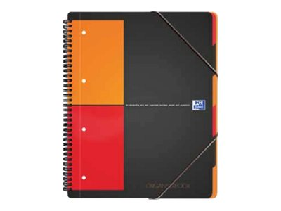 Cahiers professionnels Oxford International Organiserbook A4+ - Cahier - 160 pages - blanc - petits carreaux