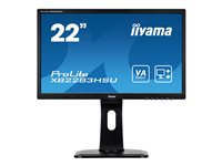 "Iiyama ProLite XB2283HSU-B1DP - Écran LED - 22"" (21.5"" visualisable) - 1920 x 1080 Full HD (1080p) - VA - 250 cd/m² - 3000:1 - 5 ms - DVI-D, VGA, DisplayPort - haut-parleurs - noir"