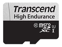 Transcend 350V - Carte mémoire flash (adaptateur SD inclus(e)) - 64 Go - UHS-I U1 / Class10 - microSDXC UHS-I
