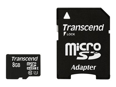 Transcend Premium Flash memory card (microSDHC to SD adapter included) 8 GB