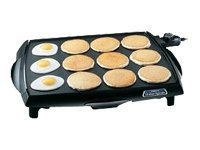 Presto TiltFEETnDrain BigGriddle cool touch griddle Grill electrical 12 slice