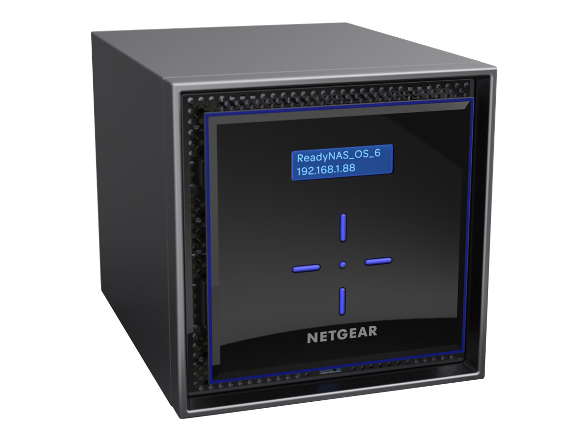 NETGEAR ReadyNAS 424 - NAS-Server - 4 Schächte - RAID 0, 1, 5, 6, 10, JBOD - RAM 2 GB - Gigabit Ethernet