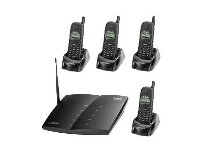 EnGenius Durafon Pro - cordless phone with caller ID/call waiting + 3 additional handsets
