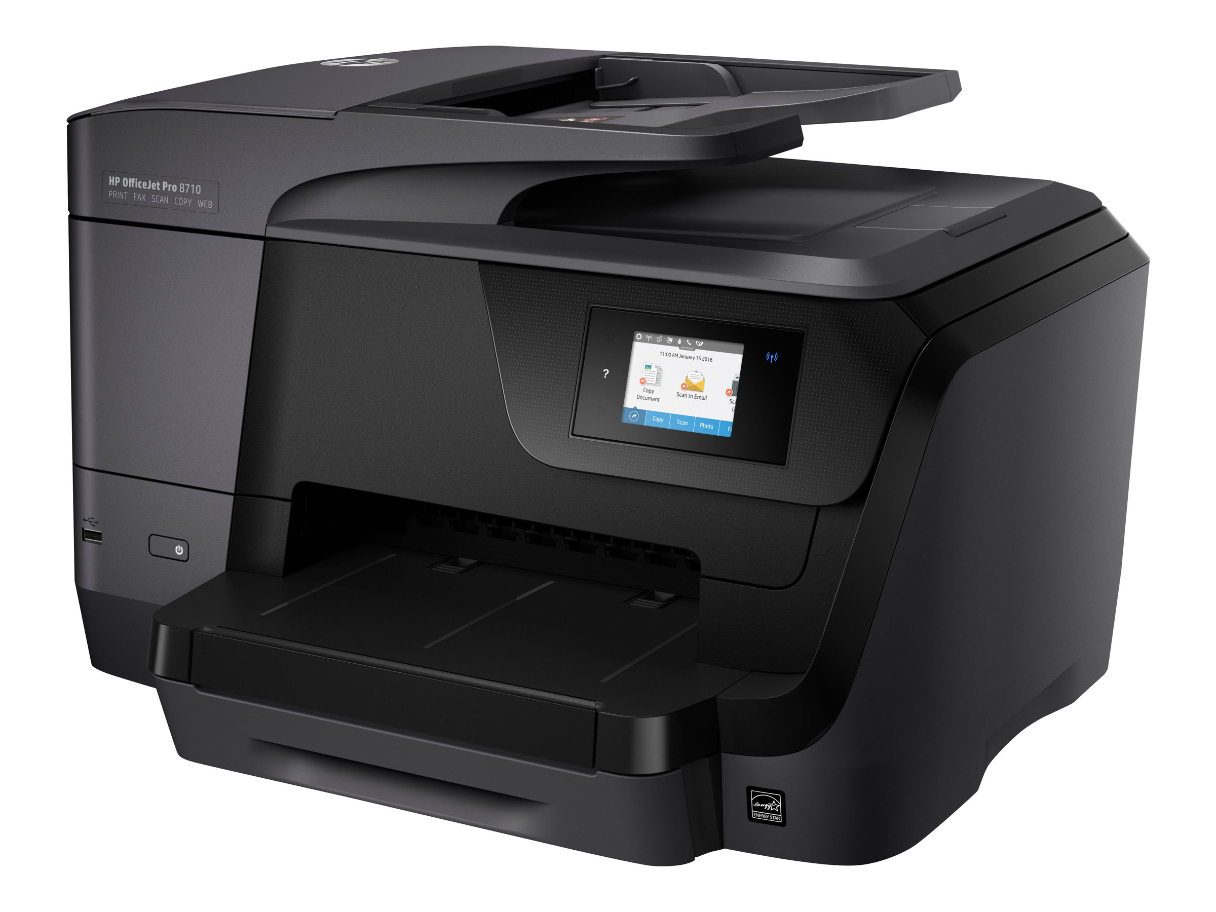 HP Officejet Pro 8710 All-in-One - Multifunktionsdrucker - Farbe - Tintenstrahl - Legal (216 x 356 mm) (Original) - A4/Legal (Medien)