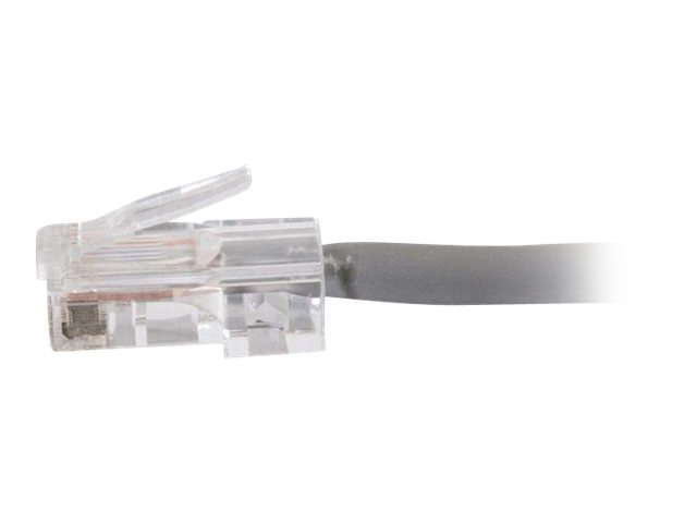 C2G Cat5e Non-Booted Plenum-Rated Unshielded (UTP) Network Patch Cable - patch cable - 30.5 cm - gray