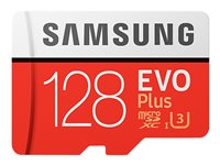 Samsung EVO Plus MB-MC128G - Carte mémoire flash (adaptateur microSDXC vers SD inclus(e))