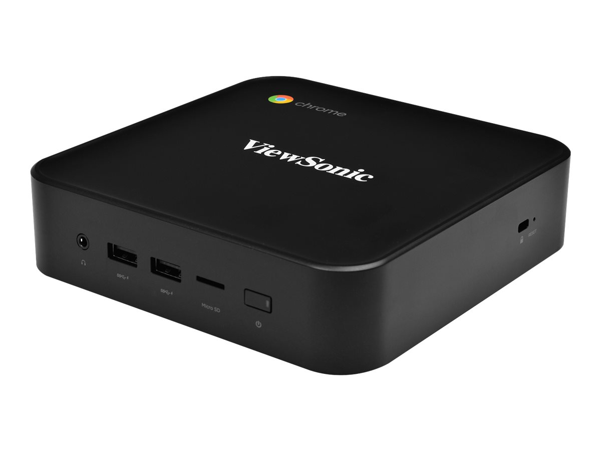 ViewSonic NMP660 Chromebox - mini PC - Celeron 3867U 1.8 GHz - 4 GB - SSD 128 GB