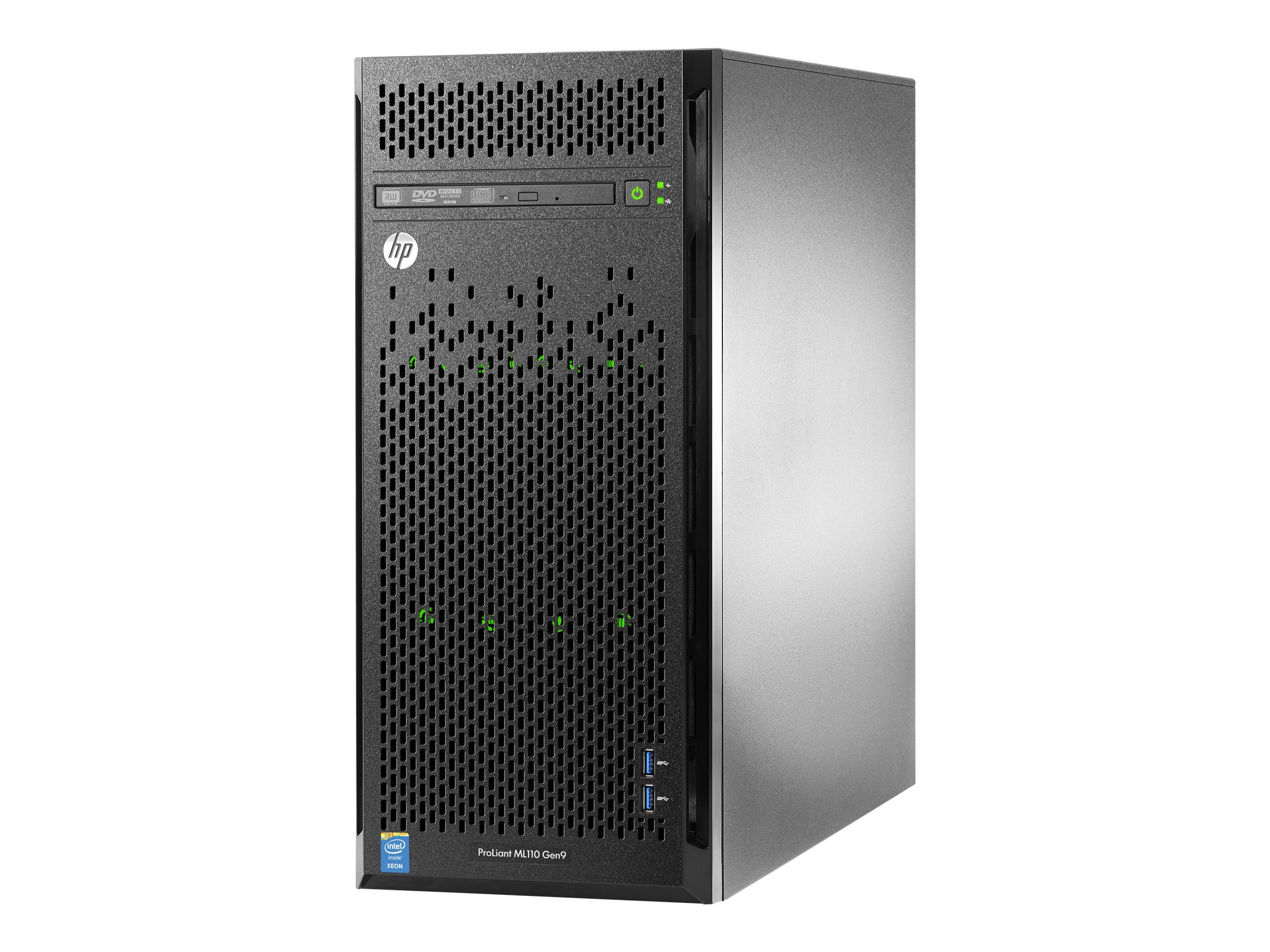 HPE ProLiant ML110 Gen9 Base - Server - Tower - 4.5U - 1-Weg - 1 x Xeon E5-2620V4 / 2.1 GHz