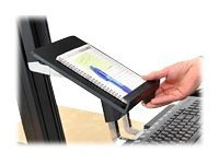 Ergotron WorkFit-S Tablet/Document Holder Mounting component (holder) for tablet plastic