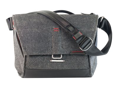 the everyday messenger - borsa a tracolla per macchina fotografica con obiettivo e notebook