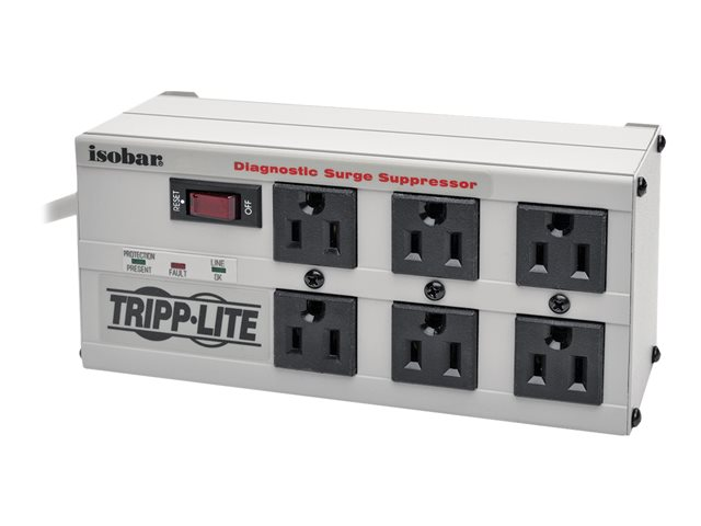 Tripp Lite Isobar Surge Protector Metal 6 Outlet 6' Cord 3330 Joules