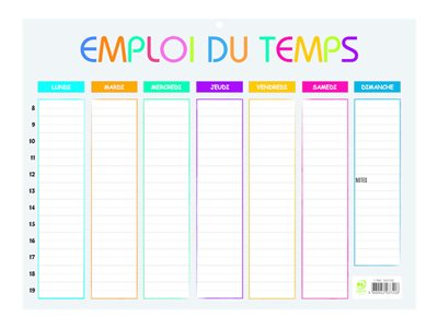 Calendriers & Planning Emploi du temps Multicolore Exacompta