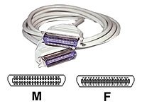C2G Printer extension cable 36 pin Centronics (M) to 36 pin Centronics (F) 6 ft mold