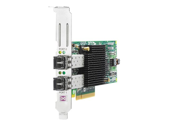 HPE 82E - Hostbus-Adapter - PCIe 2.0 x4 / PCIe x8 Low-Profile - 8Gb Fibre Channel x 2 - für Modular Smart Array 1040, 2040; ProLiant DL370 G6, SL210t Gen8; StoreEasy 3850
