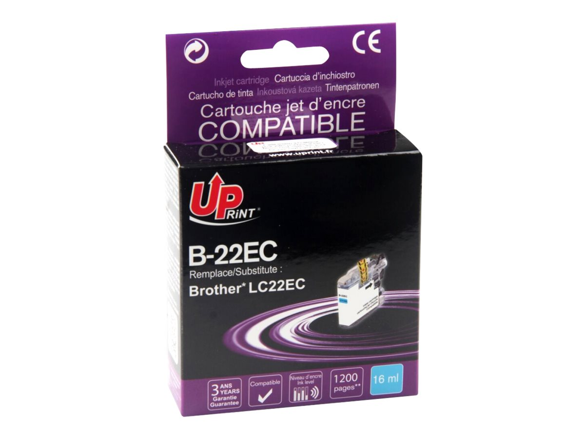Brother LC22E compatible Uprint - cyan - cartouche d'encre