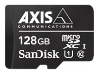 AXIS Surveillance - Flash memory card (microSDXC to SD adapter included) - 128 GB - UHS-I U1 / Class10 - microSDXC UHS-I - black - for AXIS M3058, M5065, P1447, P1448, P3374, P3375, P3904, Q1645, Q1647, Q3515, Q6124, Q8742