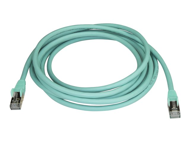 StarTech.com 3 m CAT6a Ethernet Cable - 10 Gigabit Category 6a Shielded Snagless RJ45 100W PoE Patch Cord - 10GbE Aqua UL/TIA Certified - Patch-Kabel - RJ-45 (M) bis RJ-45 (M) - 3 m