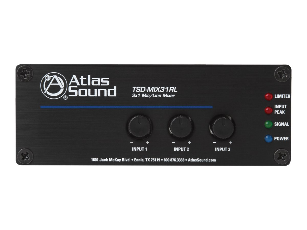 Atlas Sound TSD-MIX31RL analog mixer - 3-channel