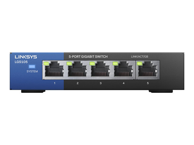 Image of Linksys Business LGS105 - switch - 5 ports - unmanaged