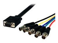 Comprehensive HR Pro VGA cable BNC (F) to HD-15 (VGA) (M) 6 ft molded,