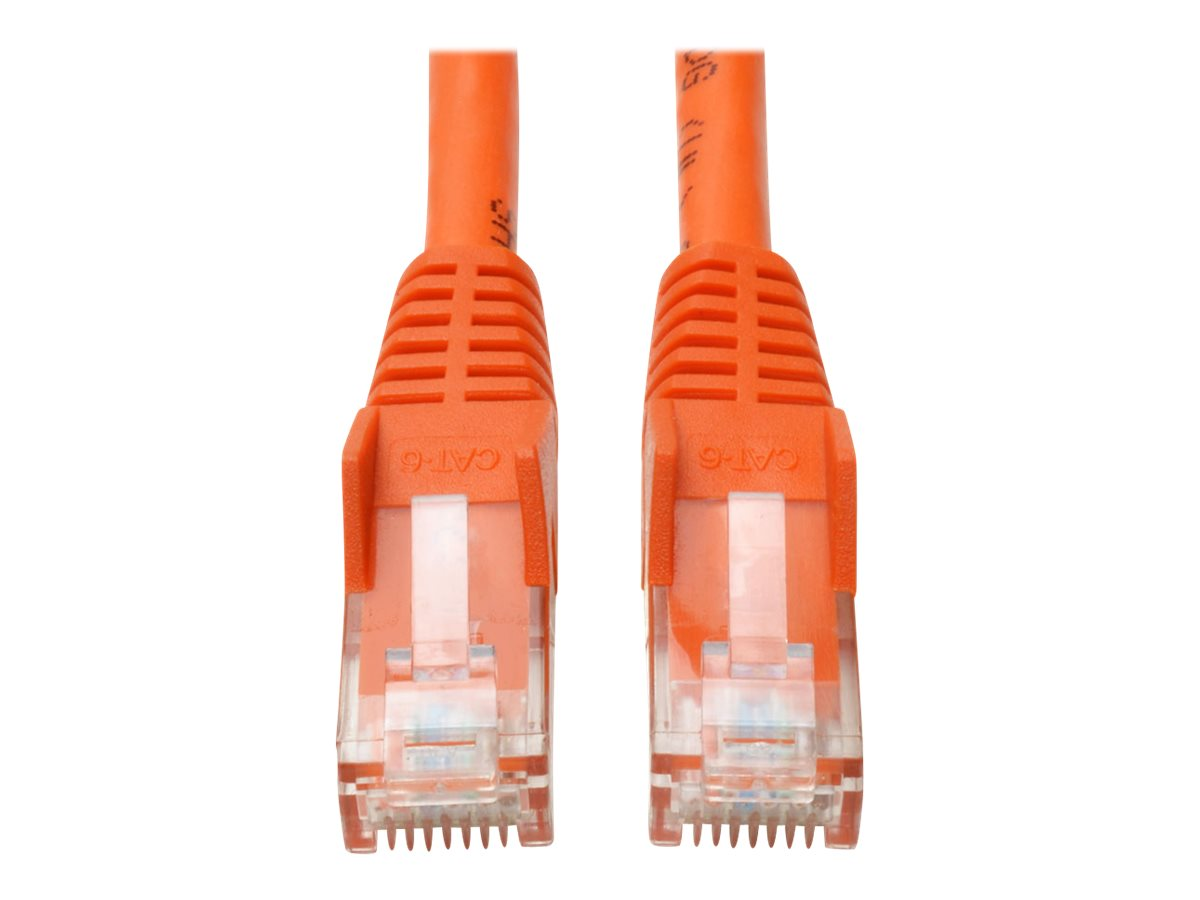 Tripp Lite 7ft Cat6 Gigabit Snagless Molded Patch Cable RJ45 M/M Orange 7' - patch cable - 2.1 m - orange