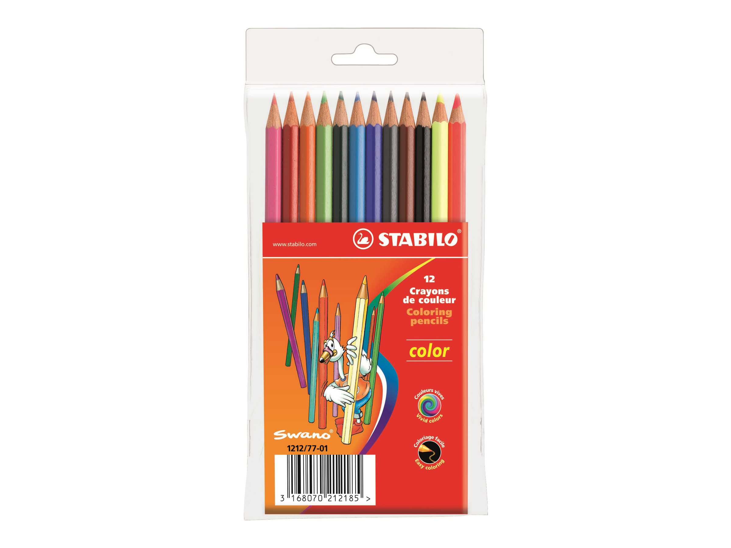 Stabilo color - 12 Crayon de couleurs - couleurs assorties - 2.5 mm