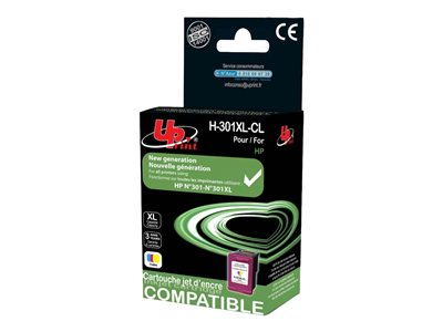 compatibles HP UPrint H.301XLC - cyan, magenta, jaune - cartouche d'encre remanufacturée (alternative pour : HP 301XL)
