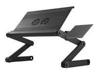 Uncaged Ergonomics WorkEZ Cool Notebook fan with 3-port USB hub black