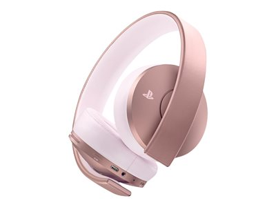 Sony Gold Rose Gold Edition headphones with mic full size wireless 3.5 mm jack