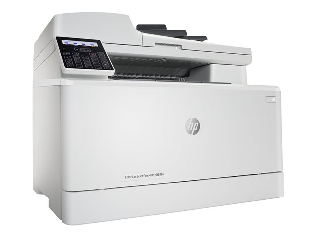 HP Color LaserJet Pro MFP M181fw - Imprimante multifonctions - couleur - laser - Legal (216 x 356 mm) (original) - A4/Legal (support) - jusqu'à 16 ppm (copie) - jusqu'à 16 ppm (impression) - 150 feuilles - 33.6 Kbits/s - USB 2.0, LAN, Wi-Fi(n)