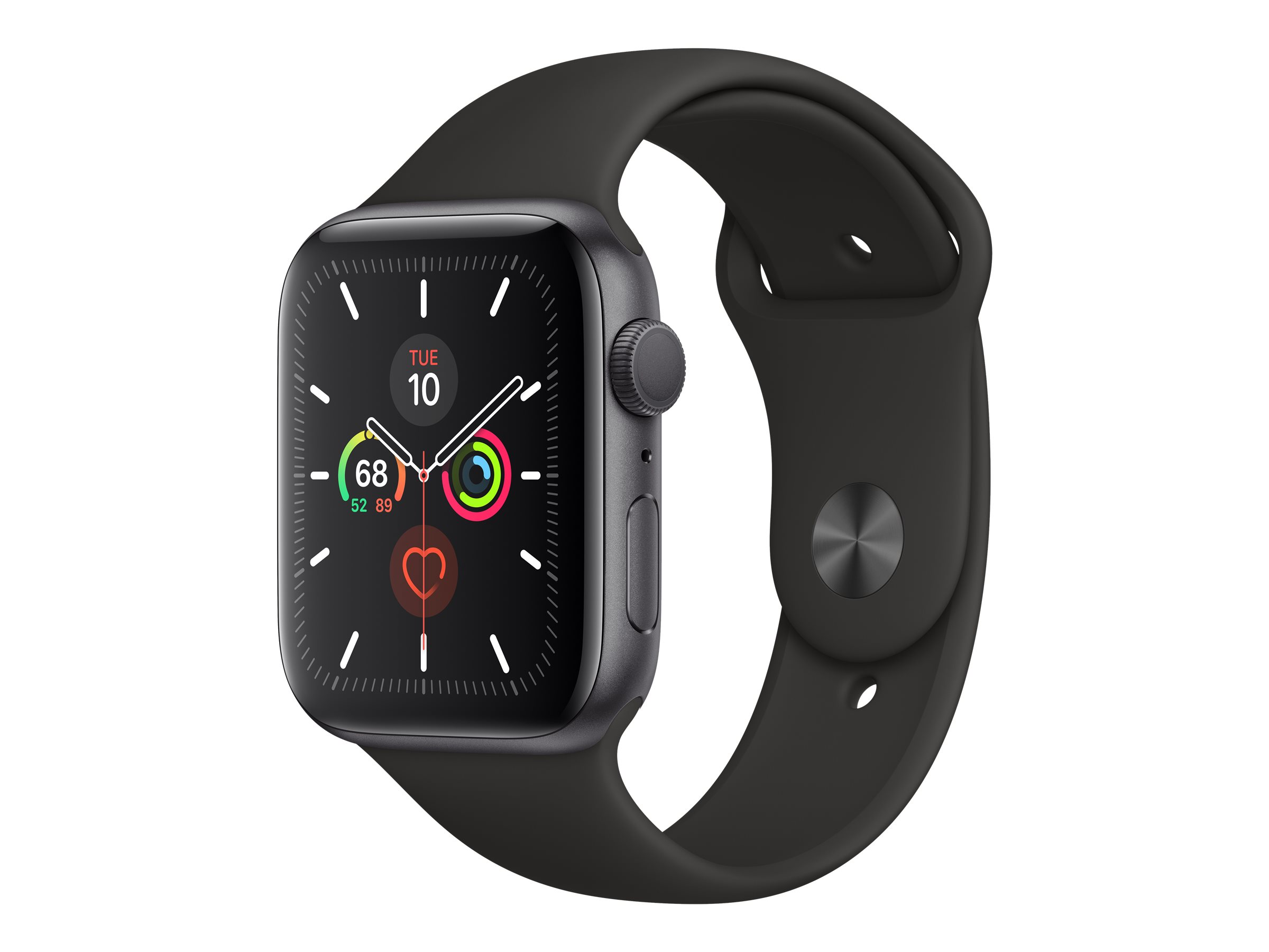 Apple Watch Series 5 (GPS) - space gray aluminum - smart watch with sport band - black - 32 GB