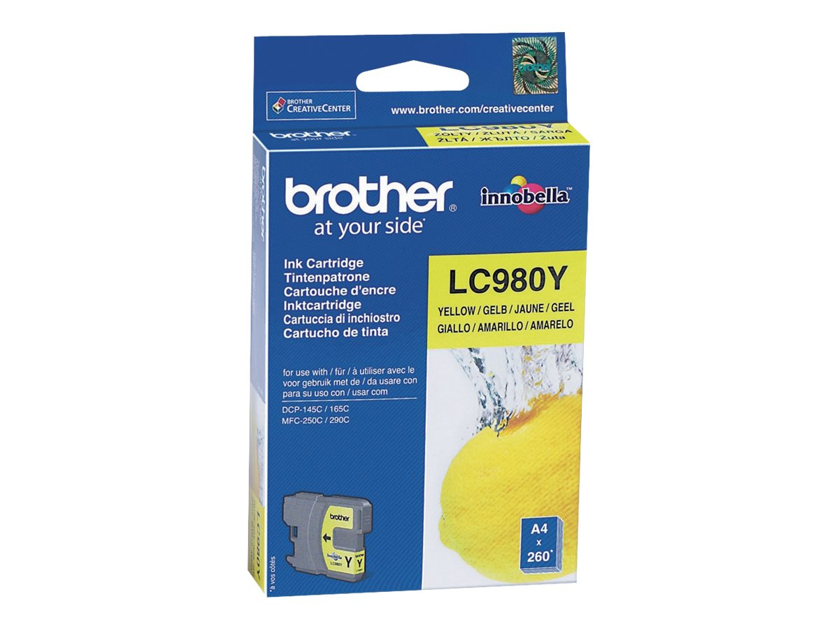 Brother LC980Y - yellow - original - ink cartridge