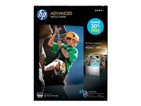 HP Advanced Photo Paper - Glossy - Letter A Size (8.5 in x 11 in) 50 sheet(s) photo paper - for Deskjet 36XX; Envy 50XX, 76XX, Photo 7155, Photo 7855; Officejet 52XX; PageWide Pro 477