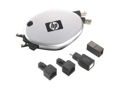 HP Retractable Telephone/Ethernet/USB Cord - USB / network cable